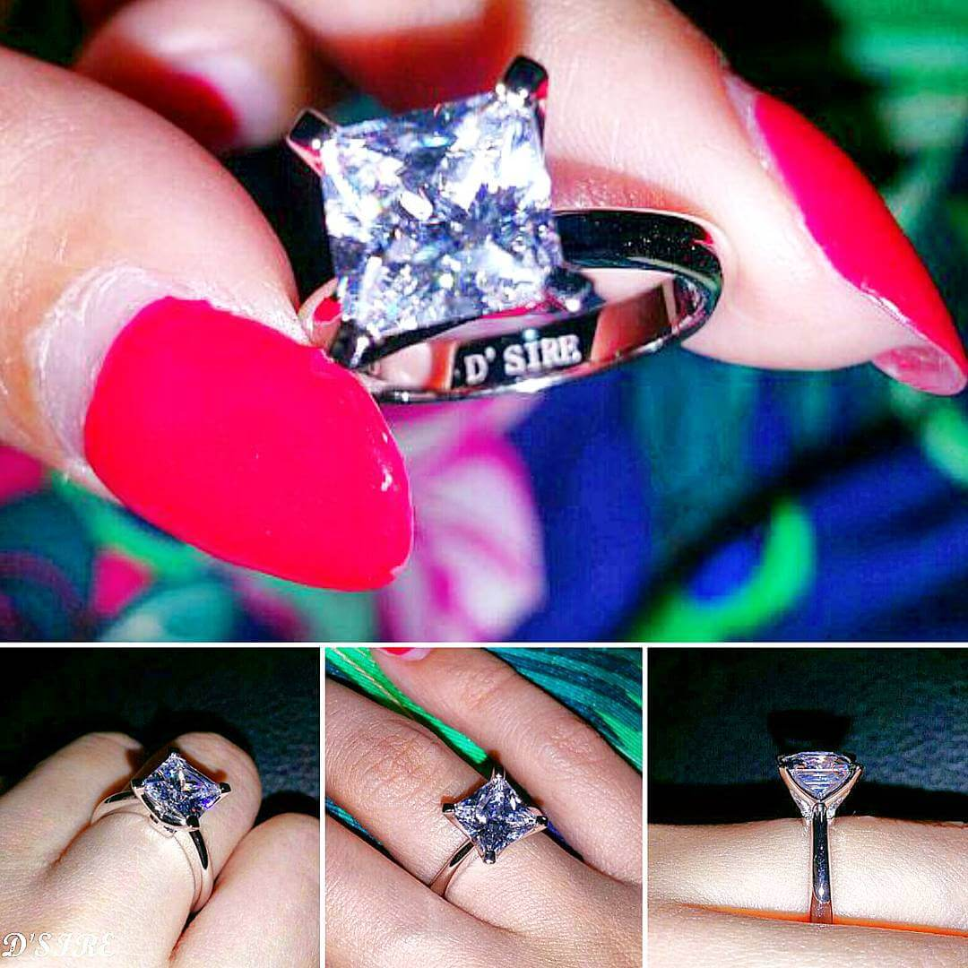 Lovely Vintage Princess Cut Ring