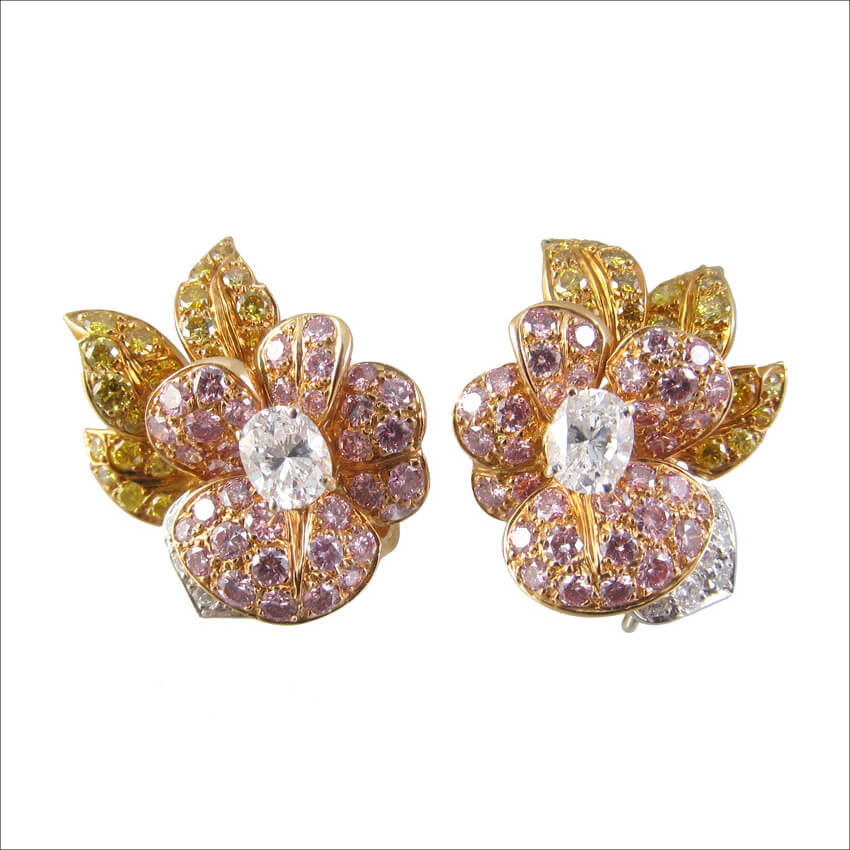 GRAFF Yellow & White Diamond Earrings (1)