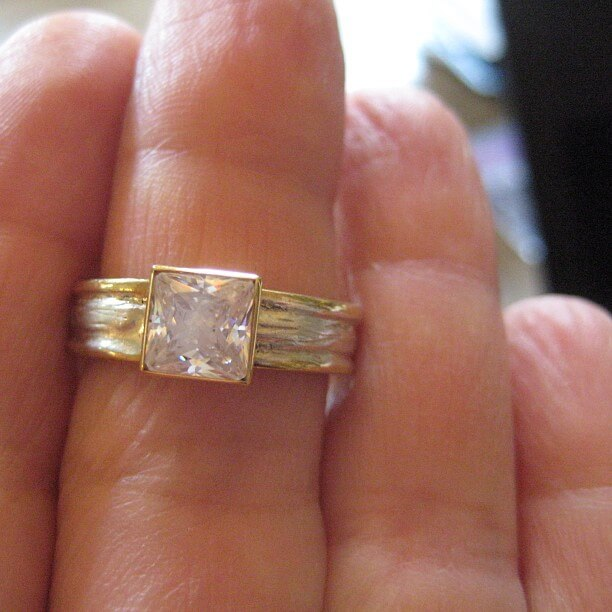 Big Rock Diamond Ring Princess Cut