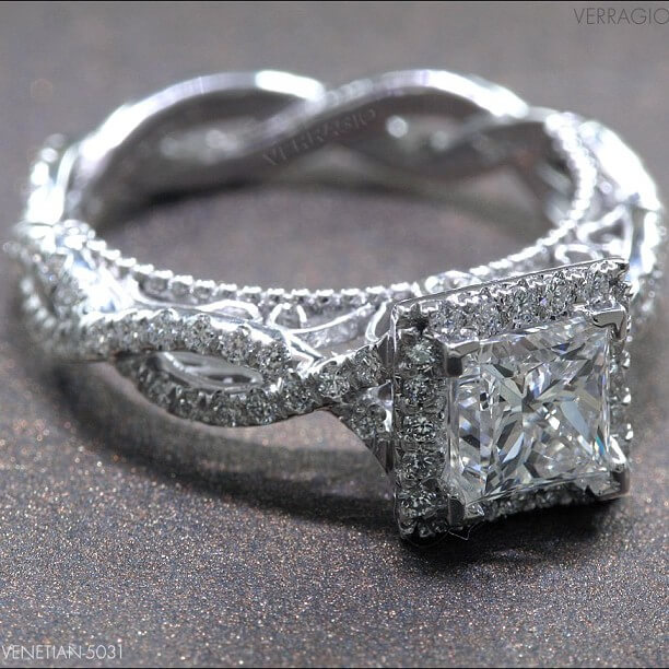 Princess Cut Vintage Diamond Engagement Ring