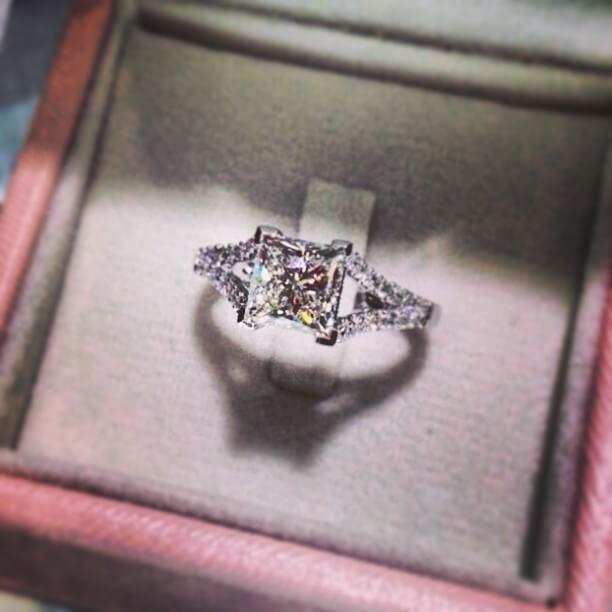 Precious Princess Cut Vintage Ring