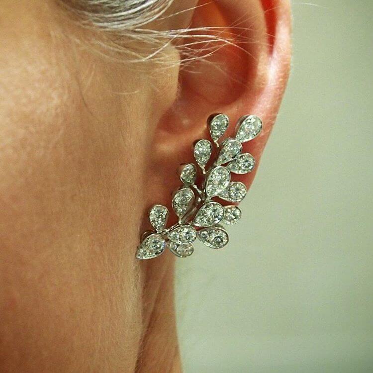 White Gold Earrings (1)