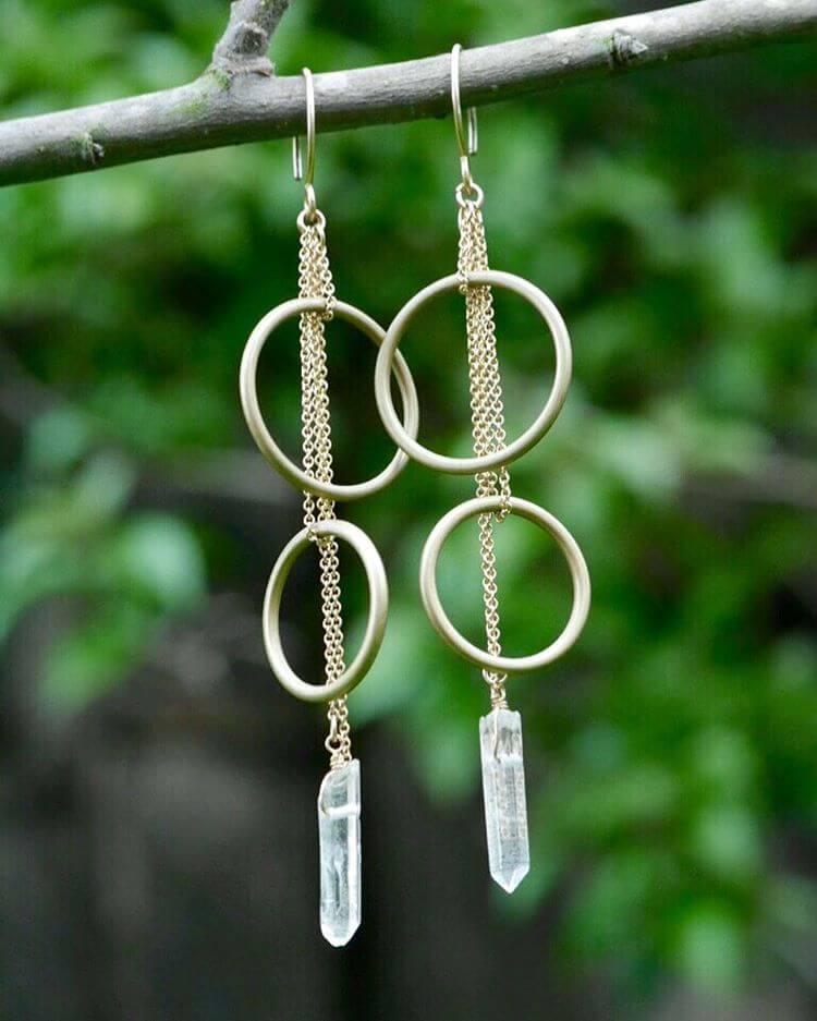 Brace Circles Gold Earrings (1)