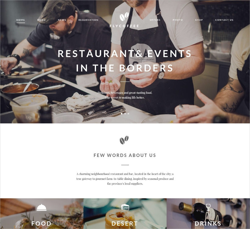 Bar & Restaurant WP Theme