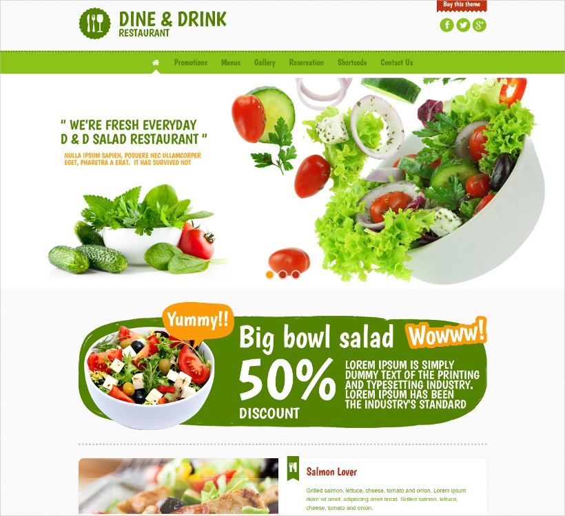 Dine & Drink WP Restaurant Theme
