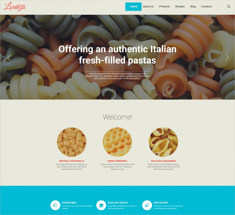European Restaurant WP Template