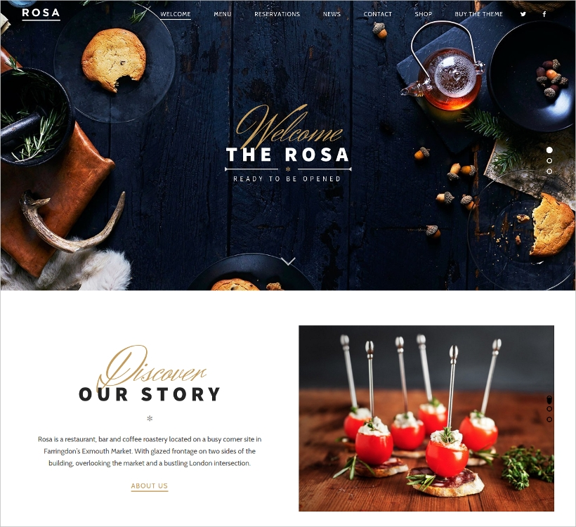 Exquisite Restaurant WordPress Theme