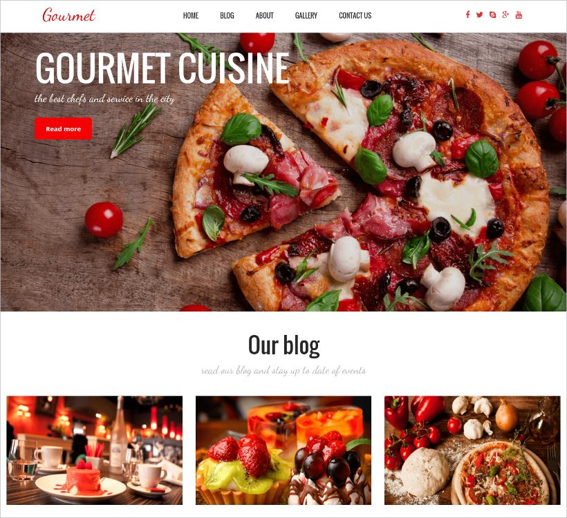 eye catching wordpress restaurant theme