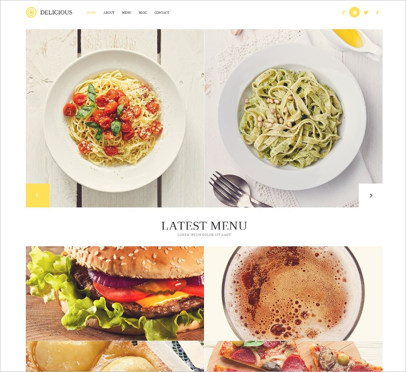 Modern Delicious Restaurant WP Theme