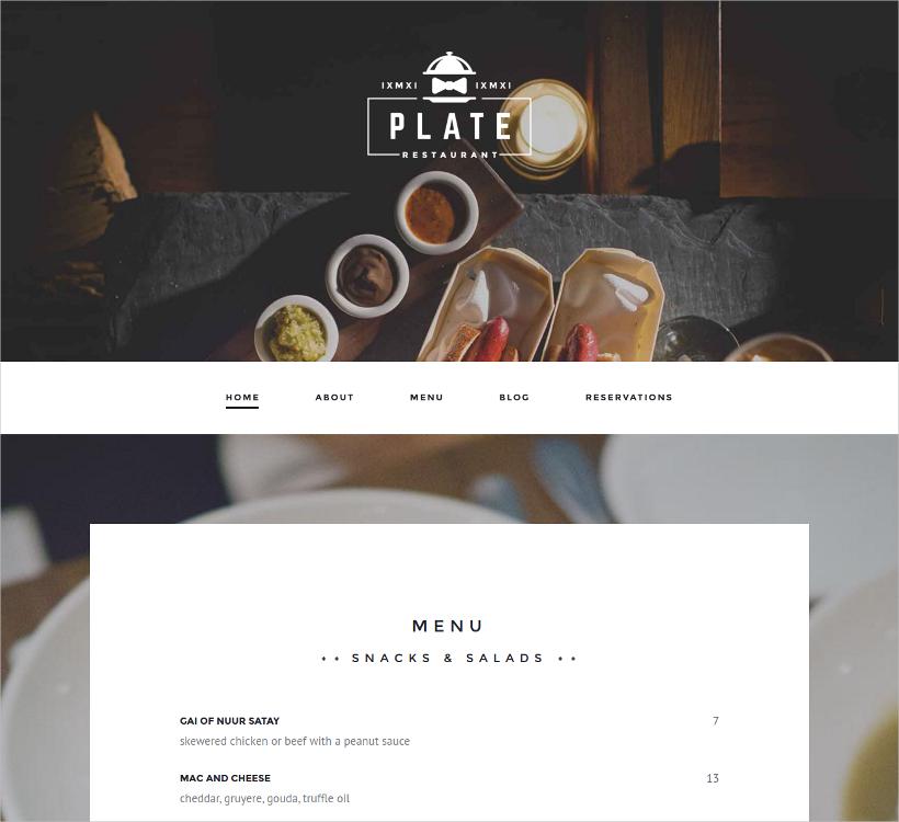 professional restaurant cafe theme