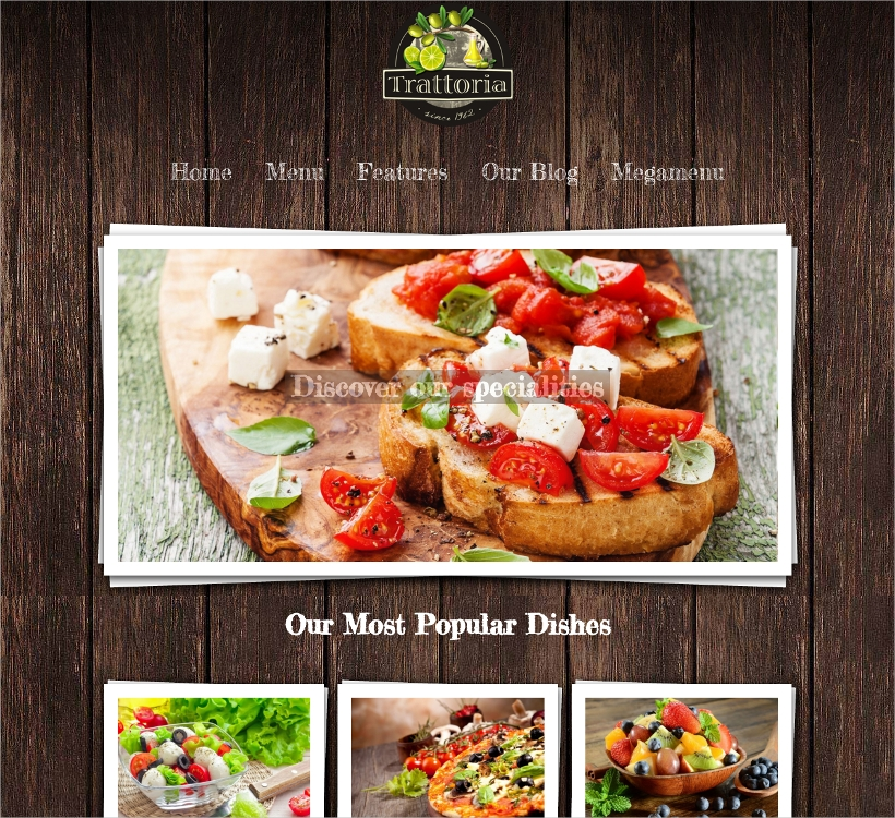 Rustic Restaurant WP Theme