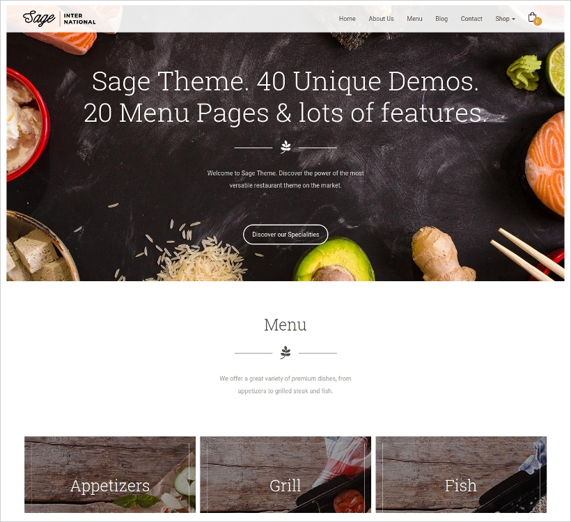 Sage Restaurant & Cafe Theme