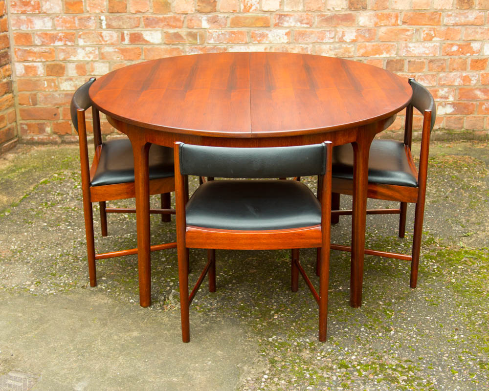 Rosewood Retro Dining Table & 4 Chairs