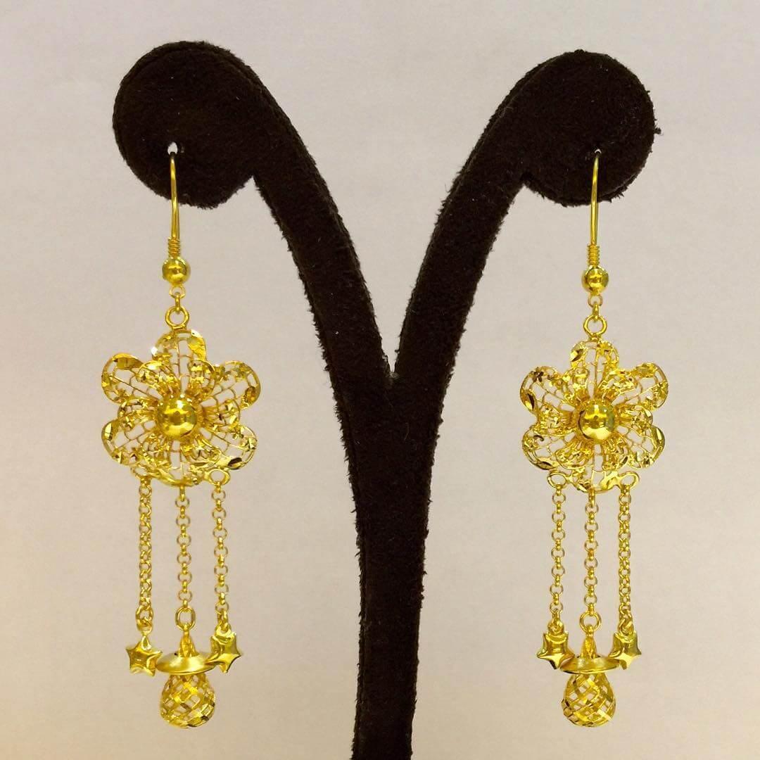 Flower Golden Earrings (1)