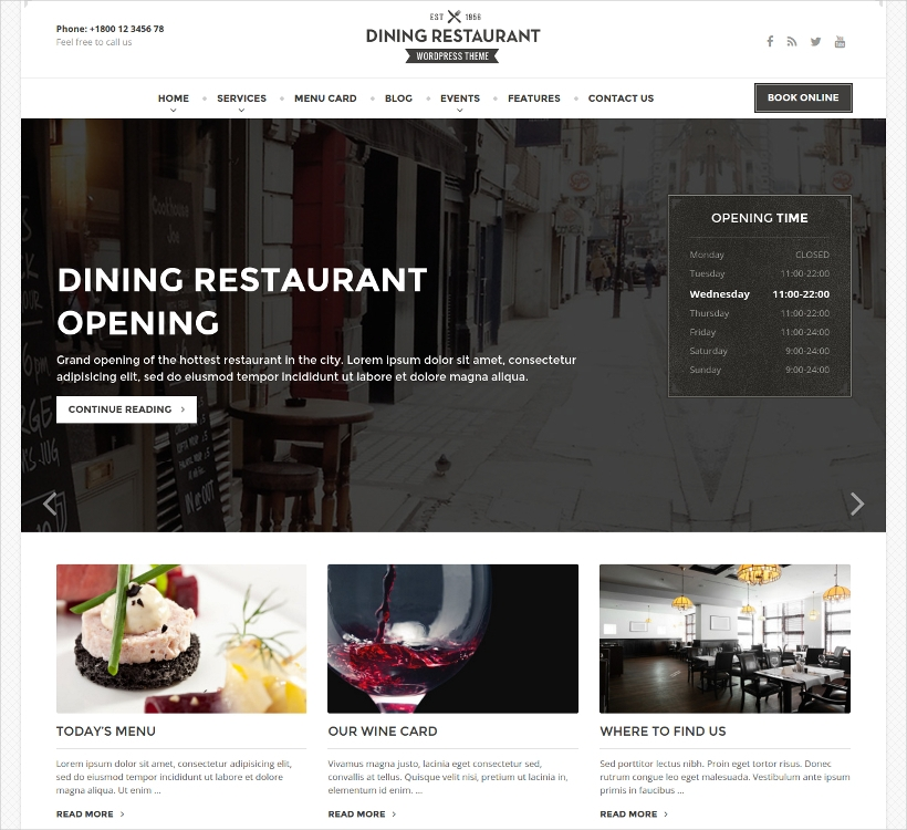 WordPress Theme For Chefs
