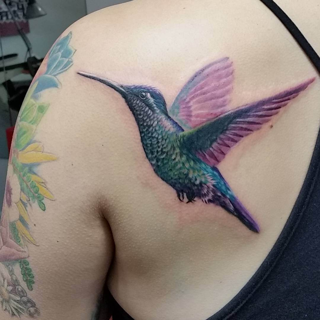 Awesome Hummingbird Tattoo for Women (1)