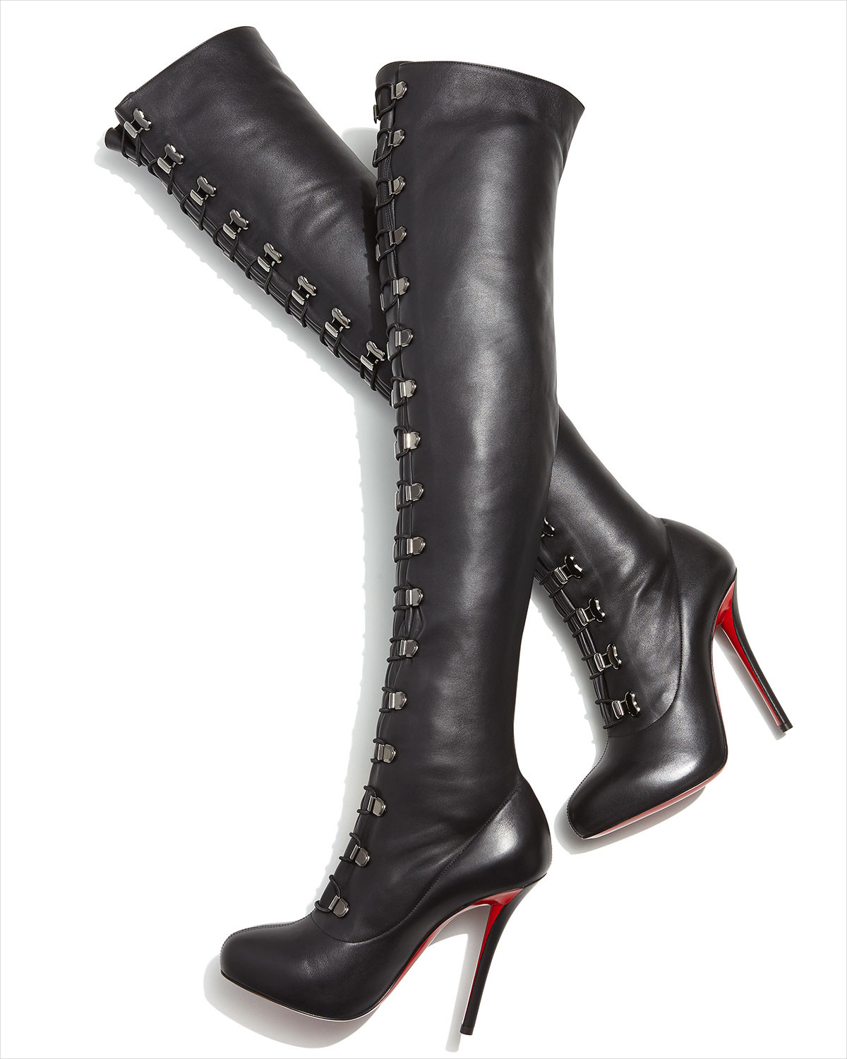 Christian Louboutin Red Sole Knee High Boots