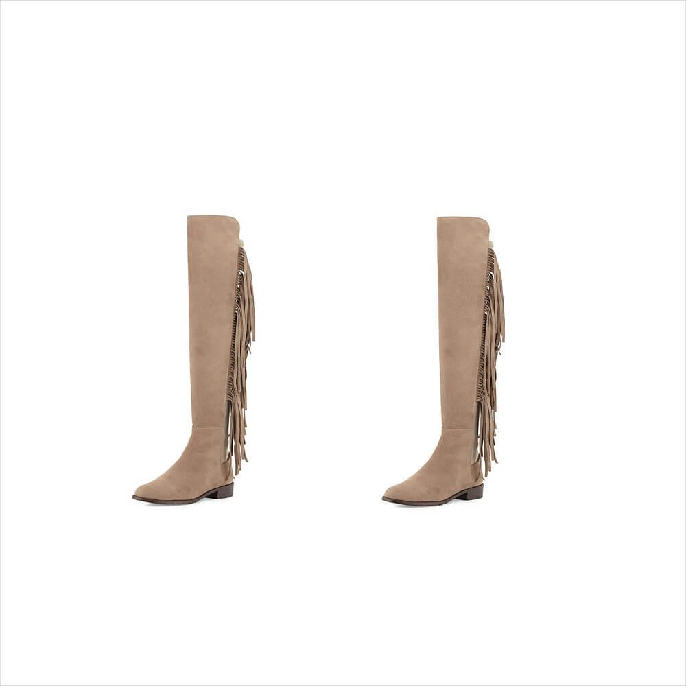 stuart weitzman mane fringe boots for women