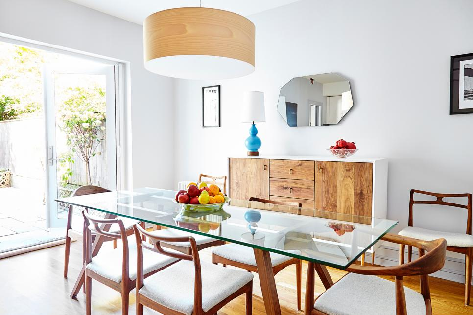 Inviting Dining Room Features Danish Modern Furniture