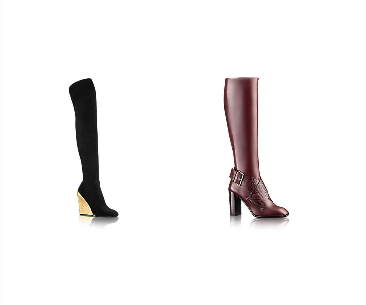 Louis Vuitton Ladies Knee High Boots
