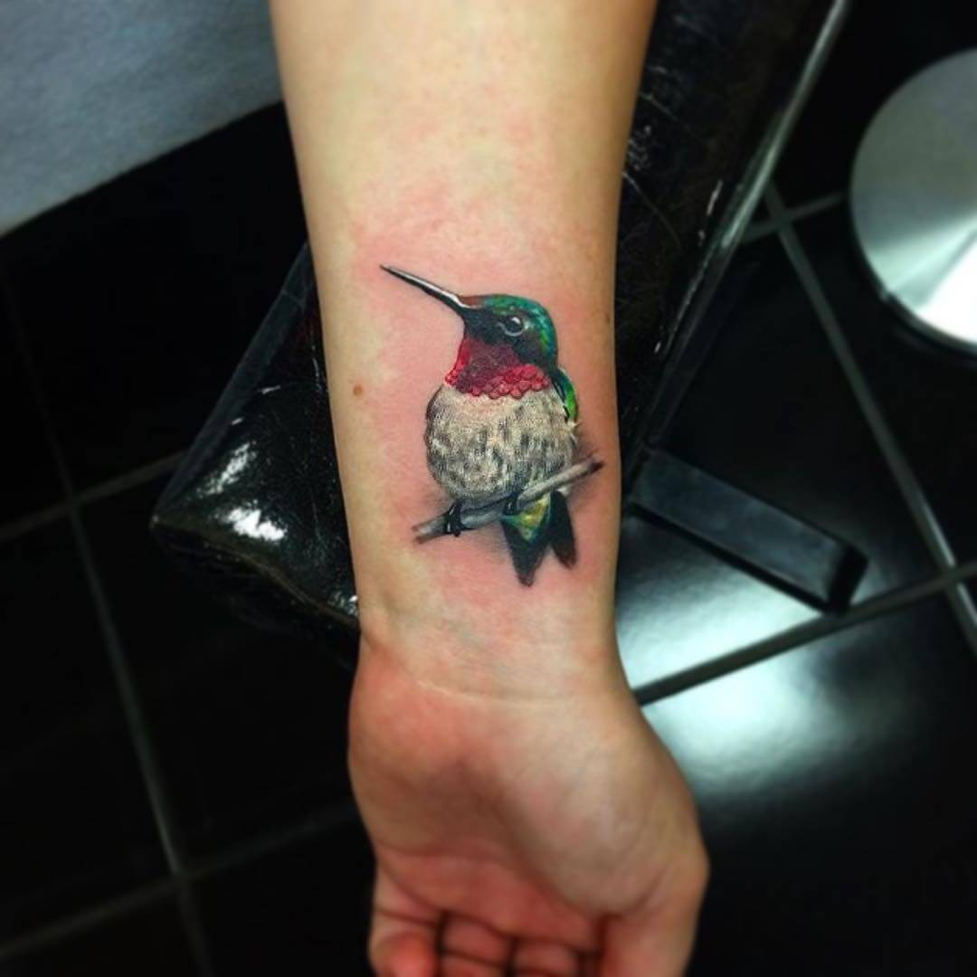 cute hummingbird tatttoo 1
