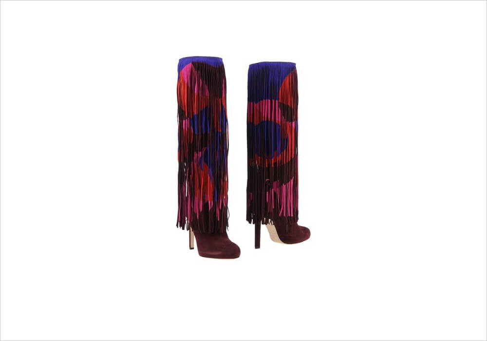 Brian Atwood Multicolor Boots Over the Knee