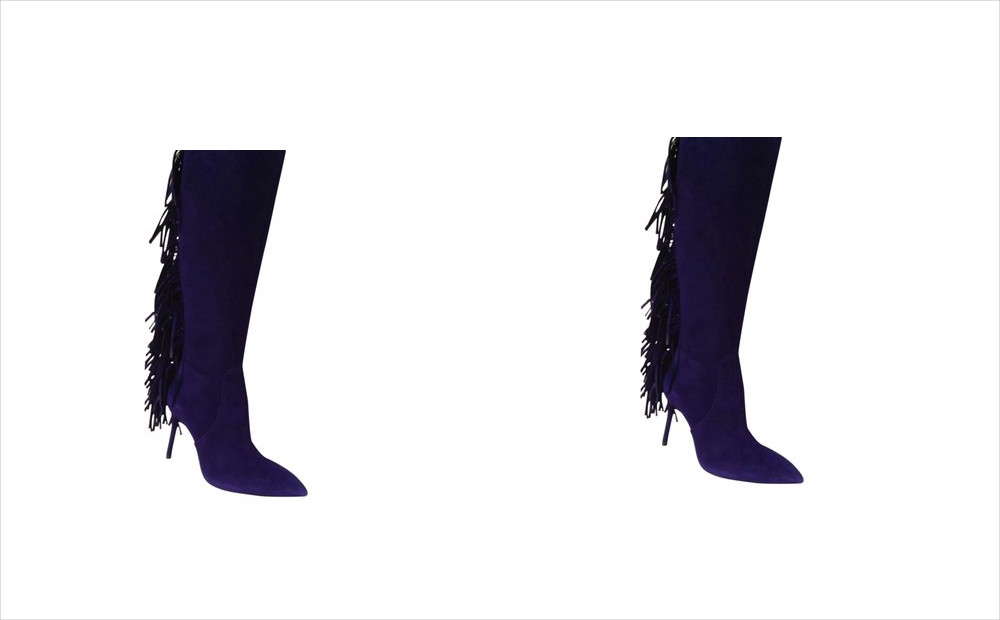 Brian Atwood Purple Color Above the Knee Boots