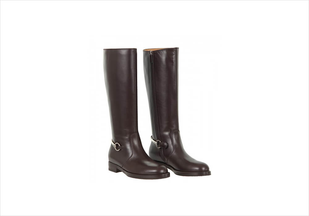 Gucci Brown Color Knee High Boots