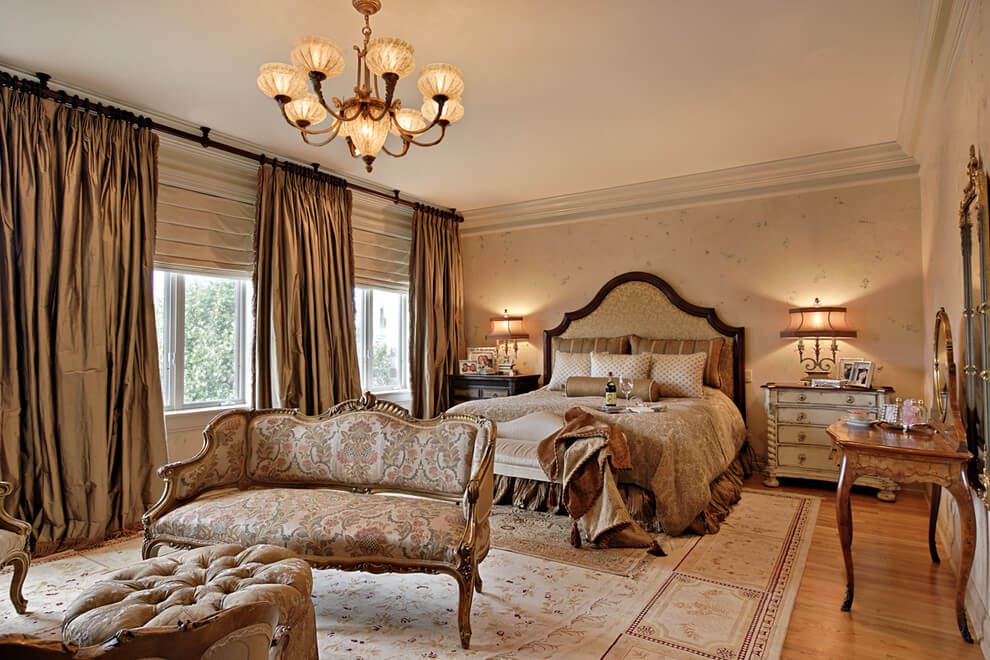 25 french style furniture designs ideas plans design for Traditional master bedroom designs
