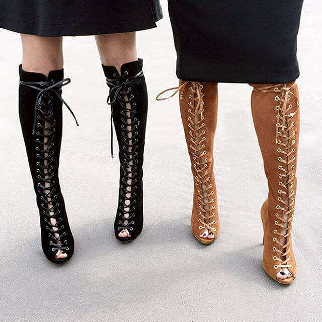 Trendy Laceup Women Boots