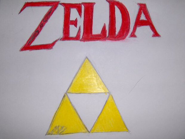 hand drawn zelda logo design