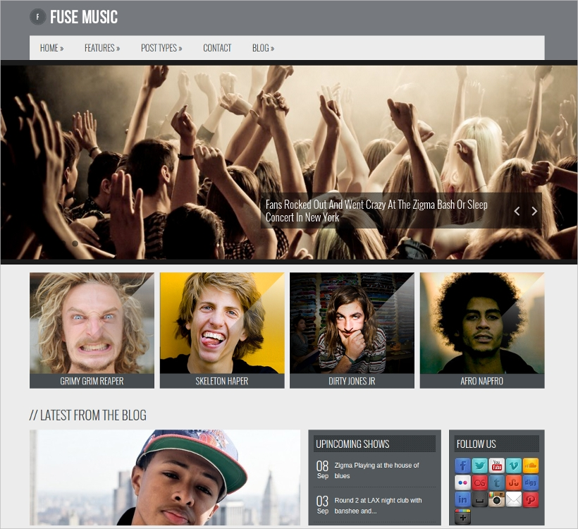 fuse music wordpress theme