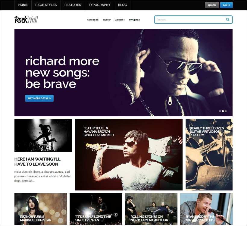 modern wordpress music theme