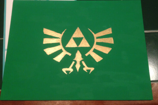 legend of zelda logo painting