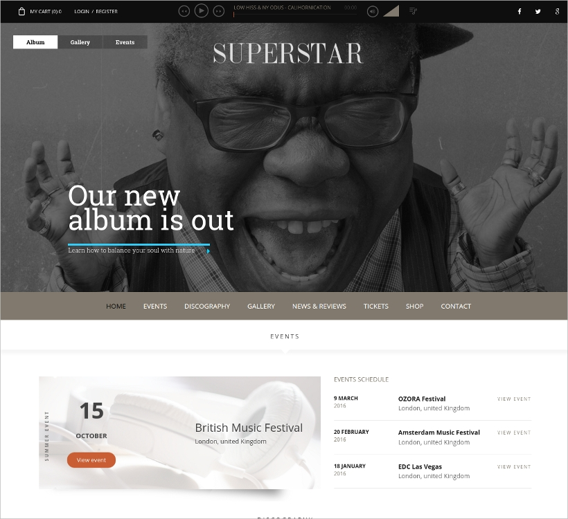 music band wp theme