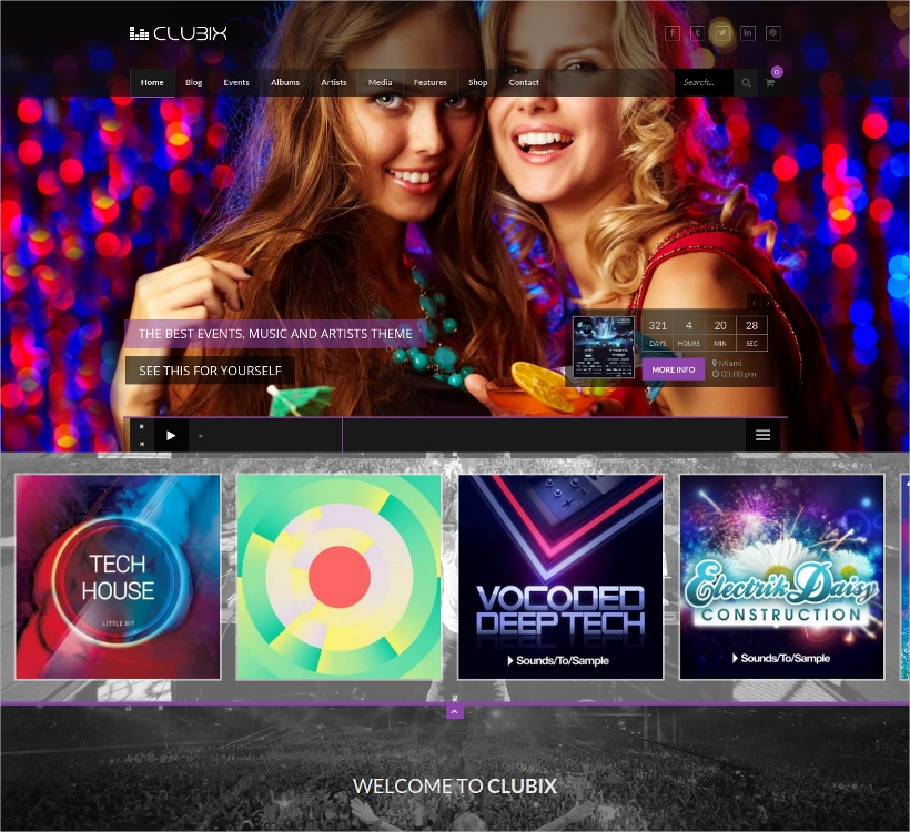 Music & Events WordPress Theme