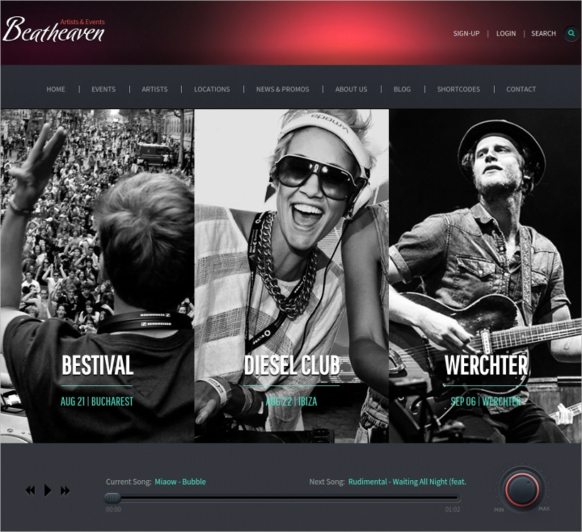 Responsive Music WordPress Theme for Artists