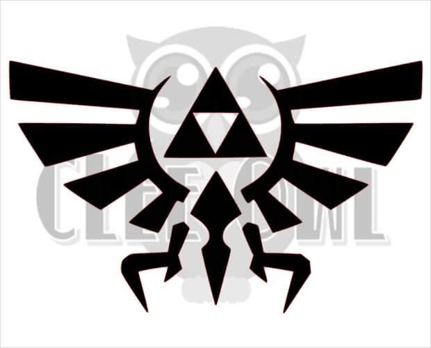 Zelda Triforce Sticker Logo