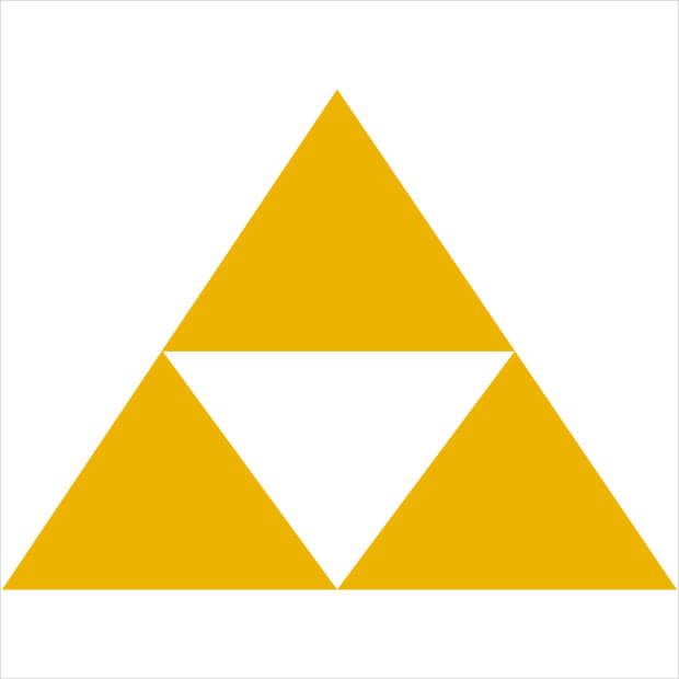 legent zelda yellow triforce logo
