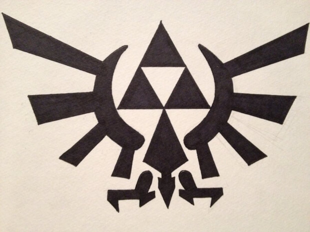 Logo Art of Triforce Zelda