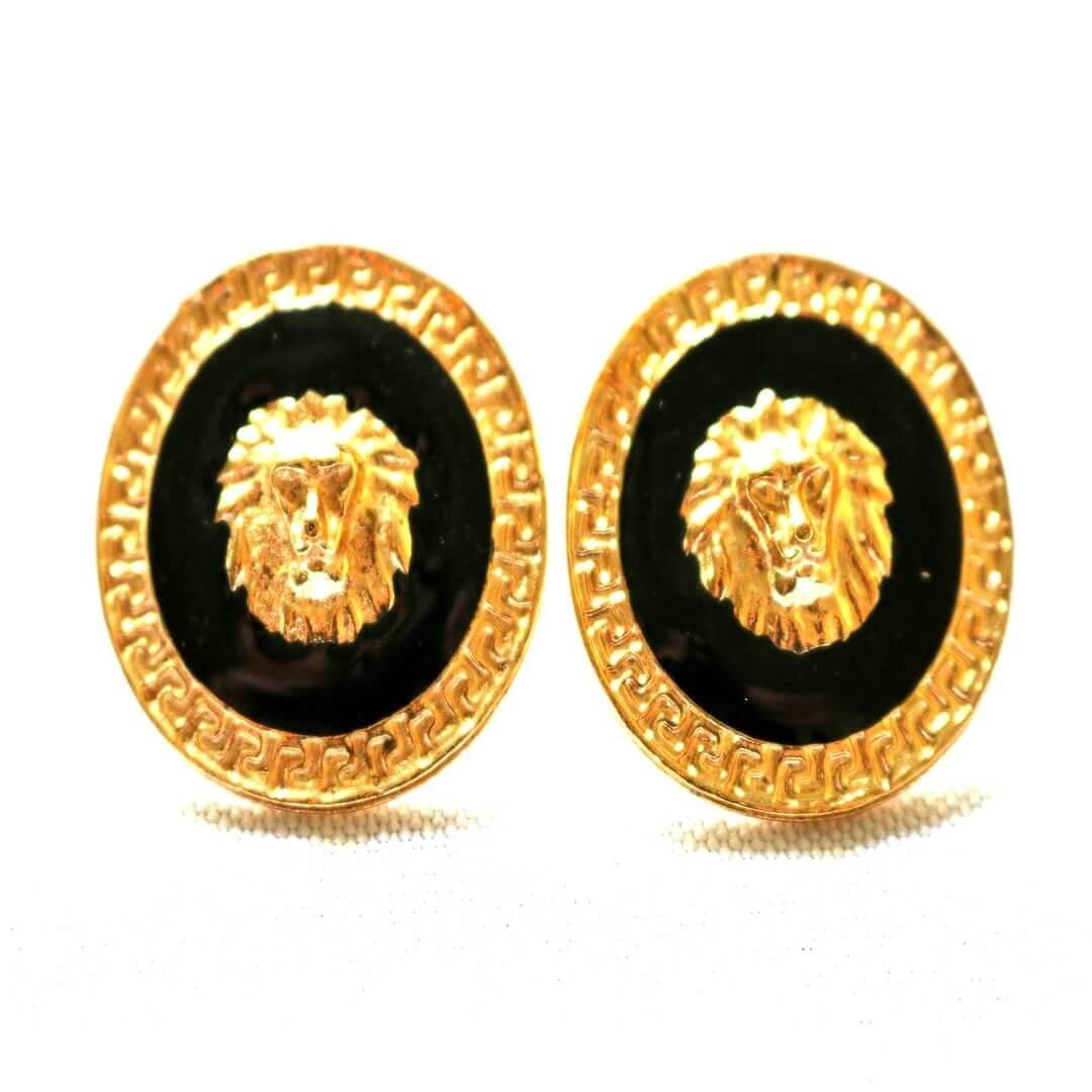 Black and Gold Earrings for Men (1)