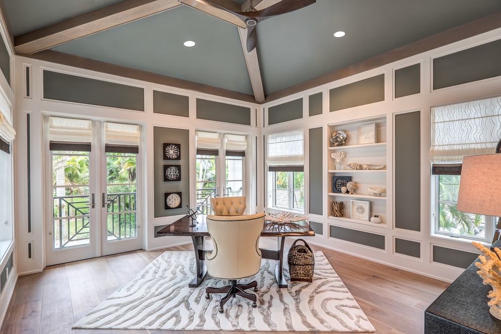 Excellent 21 Gray Home Office Designs Decorating Ideas Design Trends Largest Home Design Picture Inspirations Pitcheantrous