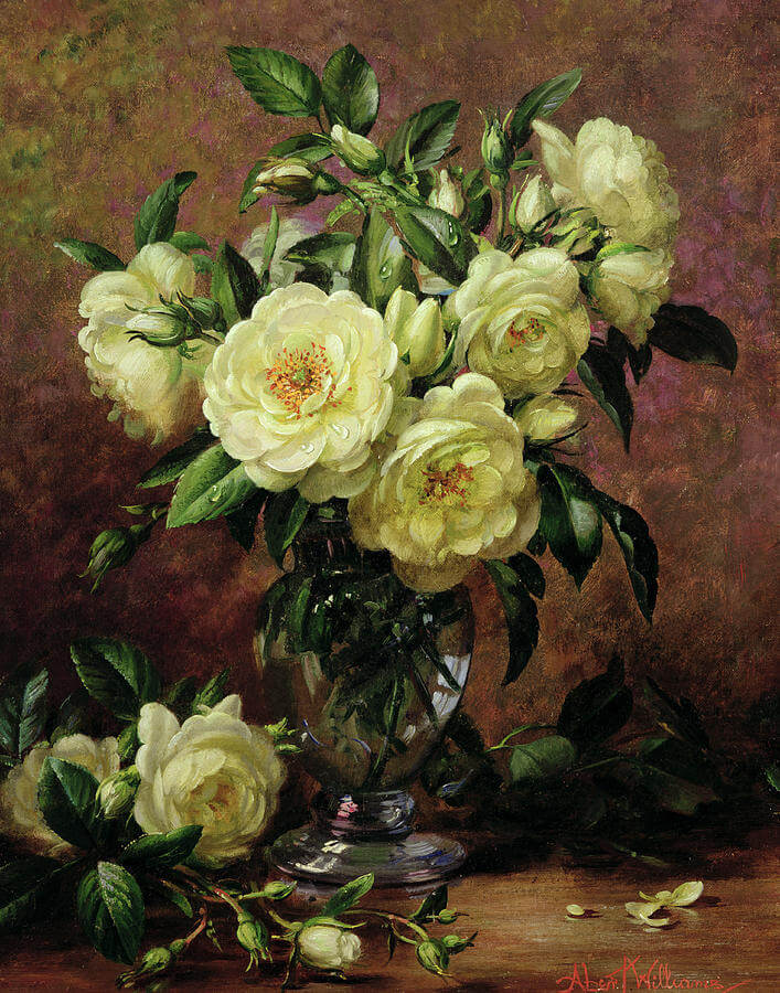 White Roses Design Painting (1)