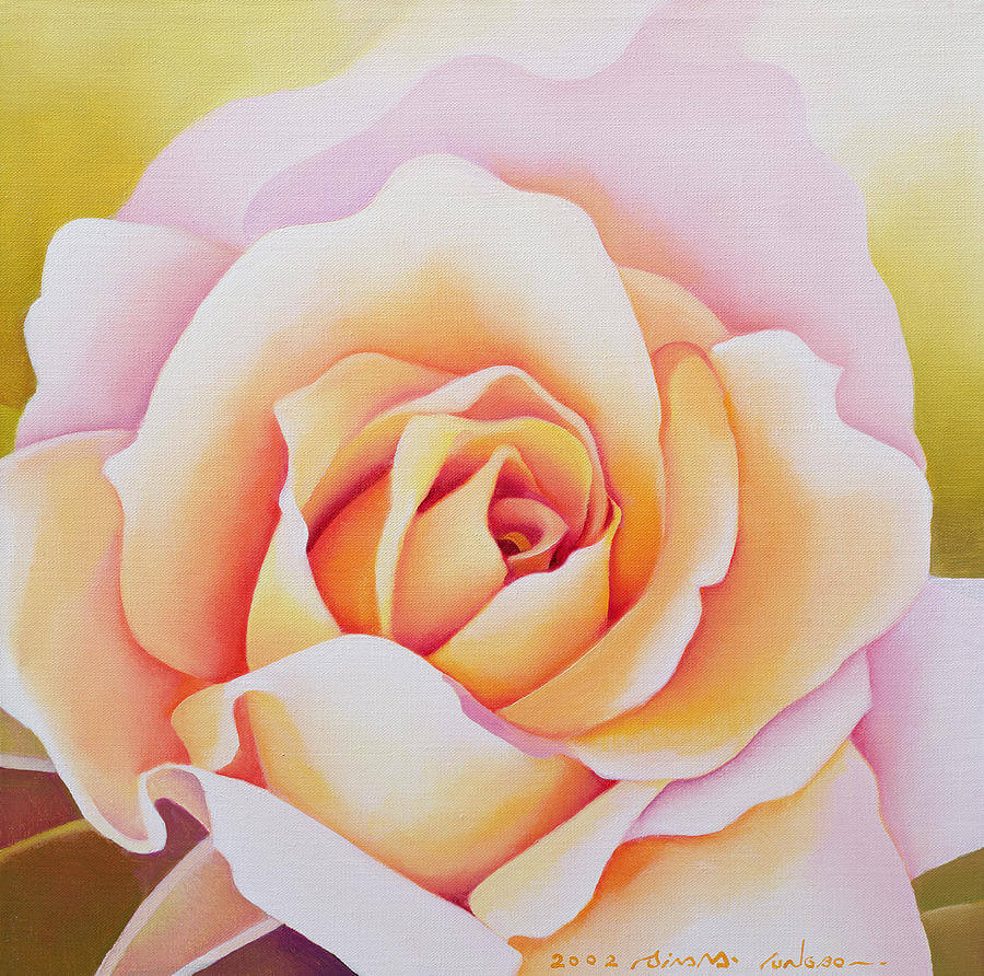 Modern Rose Flower Painting (1)