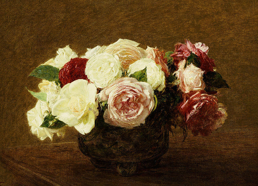 Oil Painting of Beautiful Roses