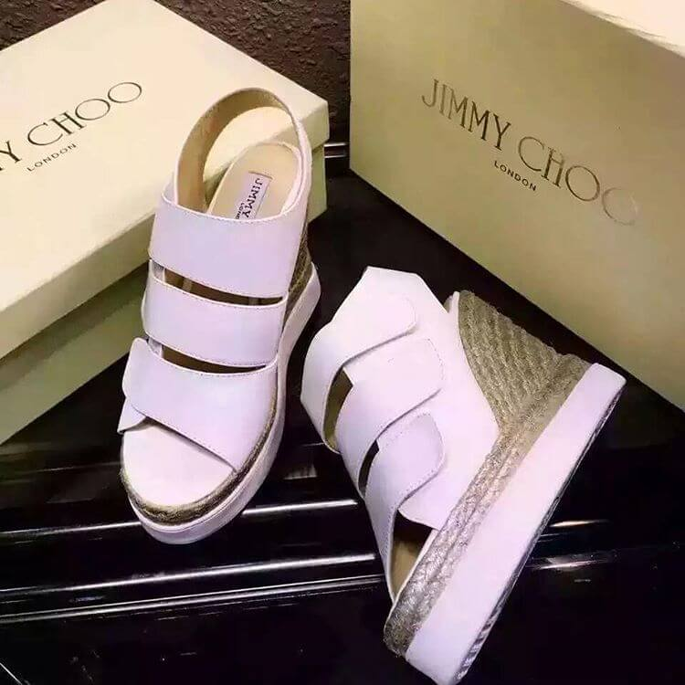 jimmy choo white summer pump shoes