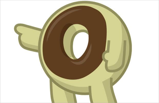 Mikey Donut Logo