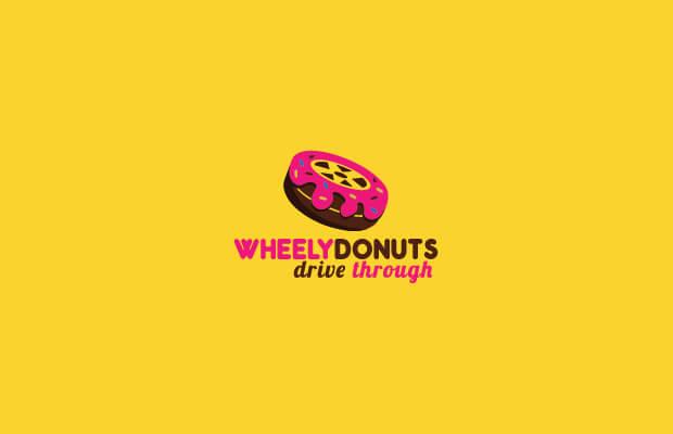 Wheel Donut Logo