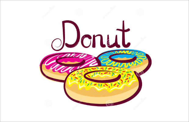 colored Donuts Logo