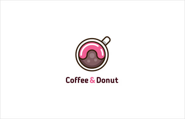 Coffee Donut Logo Design